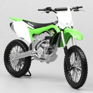 1/10 Welly Big Scale Kawasaki Kx250f Bike Diecast Motorcycle Model Motocross Toy
