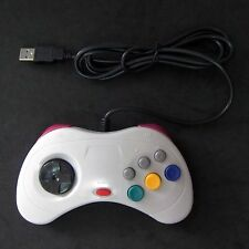 New Retro Sega Saturn SS for to PC Mac USB Classic Controller Link Gamepad Gray