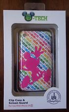 Disney Parks I Love Mickey Mouse iPhone Cover Clip Case & Screen Guard 3G 3GS