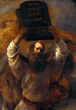 Rembrandt canvas print Moses breaks tablets of Covenant 8X12&12X17 reproduction