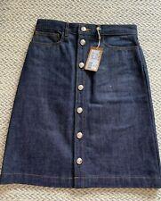 A.P.C. Therese skirt a-line japanese denim indigo dark blue FR 36