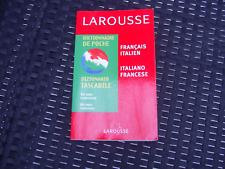 Dictionnaire de poche Larousse francais italien Italiano francese