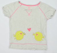 Love to Lounge Womens Size 10-12 Graphic Cotton Blend Grey Design T-Shirt (Regul