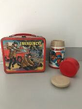 VINTAGE EMERGENCY! LUNCHBOX LUNCH BOX WITH THERMOS Aladdin 1973