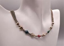 Ausgefallene sehr dekorative prachtvolle Halskette/Collier Silber mit EMAIL