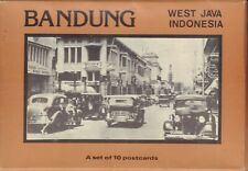 BANDUNG WEST JAVA INDONESIA - A SET OF 10 POSTCARDS