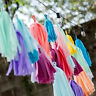 5 Tissue Paper Tassel Garland Bunting Party Wedding Birthday Pom Poms Home Decor