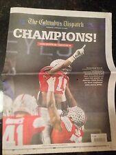 Columbus Dispatch Ohio State Buckeyes National Champions, OSU, Playoff Champs