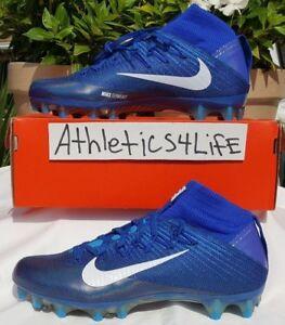 NIKE VAPOR UNTOUCHABLE 2 FOOTBALL CLEATS SIZE 11 BLUE WHITE 824470-414