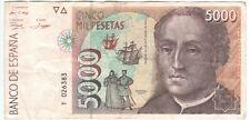 Spain 5000 Pesetas 1992 P-165
