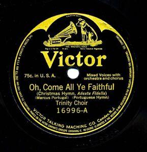 TRINITY CHOIR on  1914 Victor 16996 - Oh Come All Ye Faithful / Joy To the World