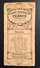 Carte Michelin Rennes 1925