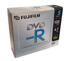 Fujifilm DVD-R Blank DVDs - 4.7GB - Upto 16x Speed - Jewel Case - 5 Pack