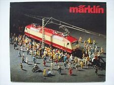beau catalogue Märklin jouet train miniature HO locomotive 1980 FR