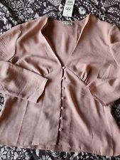 Ladies Size 14 Long Sleeve Miss Selfridge Top Blouse NEW