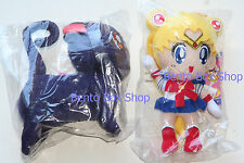 """Genuine Sailor Moon 8"""" and Luna 6.5"""" Plushes * * Brand New * *"""