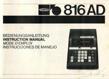 Triumph - 816 AD - Bedienungsanleitung Manual for Calculator - B18743