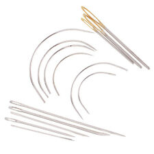 HEAVY DUTY 14PC REPAIR NEEDLES KIT Hand Sewing Darning Crafts Curved Needles