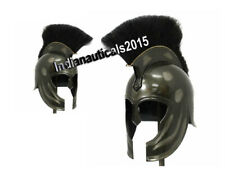 Medieval Armor Replica Trojan War Helmet Black Plume