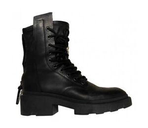 ASH MADNESS BLACK  BIKER LEATHER BOOTS WITH BOX RRP £239.00 UK 7EU 40