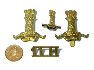 Group of 4 x 11th Hussars Military Badges #V107