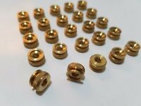 25 8/32 8-32 Old Style Replacement Brass Thumb Nuts Spark Plug