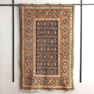 "Vintage Caucasian Kuba Shirvan ChiChi Rug kazak nomad tribal carpet 4'6"" x 7'1"""