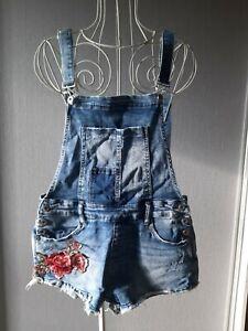Damen Jeans Latzhose kurz Shorts Gr.40
