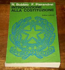 Bobbio Pierandrei INTRODUZIONE ALLA COSTITUZIONE Ed. Civica XI°ed. LATERZA 1970