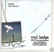 (B92) Madam, Call America - DJ CD
