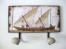 Nostalgie Blech Hakenleiste Boot Afrika 2 Haken 23cm Breite