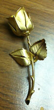 """Gold Tone Rose Pin by Giovanni - 2.75"""""""
