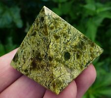 Green Russian Serpentine Pyramid Natural Polished Stone Crystal, Mineral