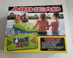 "Airhead Pongo Bongo Inflatable Floating Beverage BEER Pong Table - 88""x40"" - NIB"