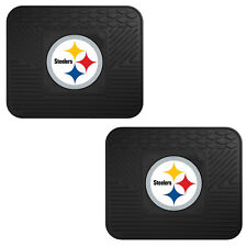 NFL Pittsburgh Steelers Car Truck 2 Back Utility All Weather Rubber Floor Mats