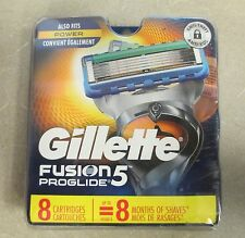 New Gillette Fusion 5 Proglide 8 Pack Replacement Cartridges