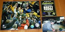 GREEN BAY PACKERS BRETT FAVRE 4 AUTOGRAPHED GOLD SIGNED Waving 8x10 PHOTO COA