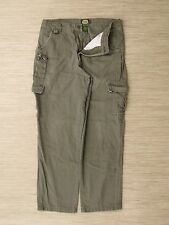 Cabela's Green Cargo Pants Men's Size 36x31 Pleated Front Zipper Fly Casual