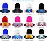 Kids Snow Ski Goggles Beanie Combo Snowboard Winter Boys Girls Anti Fog Lens New