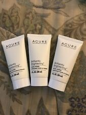 3 Acure Brilliantly Brightening Facial Scrub 1 OZ/30 ML Travel Size Sealed
