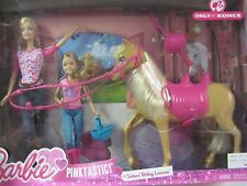 NEW Barbie Pinktastic Sisters Riding lessons