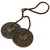 Chime Tibetan Cymbal Bell Musical Instrument 2.75 Inch For Buddhist - Free Ship