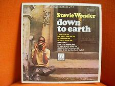 VINYL 33T – STEVIE WONDER : DOWN TO EARTH – MOTOWN SOUL - EX ! - FRENCH MOTOWN