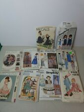 Vintage Sewing Pattern Lot of 10 Little Girls Designs early 1990s - 9 uncut