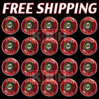 20pcs Billet Aluminum Fender Bumper Washers Bolt Engine Bay Dress Up Kit RED
