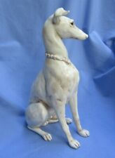 "Whippet Italian Greyhound Kay Finch Dog 14"" Antique White Color"