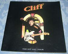 CLIFF RICHARD. THE HITS LIST TOUR. CONCERT PROGRAMME.