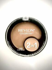Revlon Colorstay 2 In 1 Compact Makeup & Concealer Sealed 180 Sand Beige