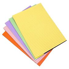 5 x Asst Visual Memory Pad  A4 Colour 100 Pg Paper Dyslexia Lined Refill Pad