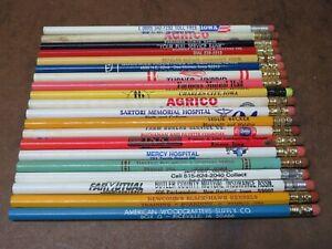 20 Vintage advertising Wood Pencil Iowa Turner Hybrid Amana Agrico farm